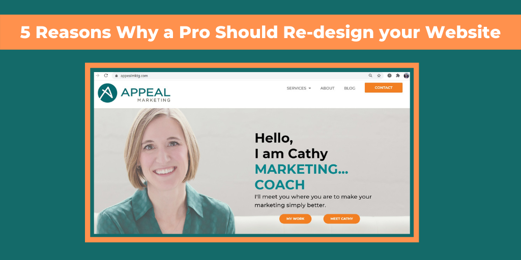 Appeal Marketing's new site, why a Pro should re-design your site