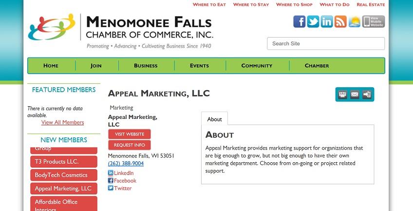 Menomonee Falls Chamber Member