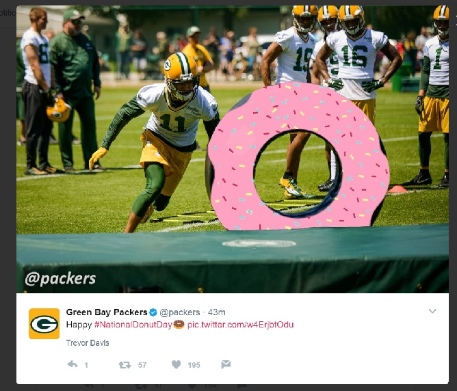 Green Bay Packers National Donut Day