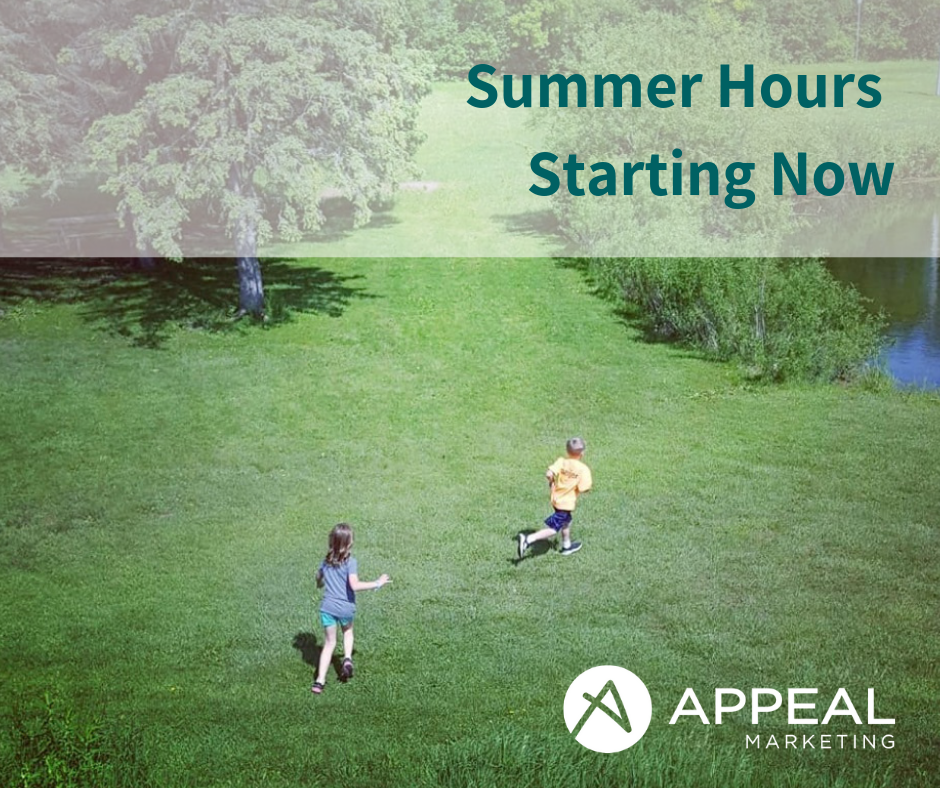 Appeal Marketing summer hours