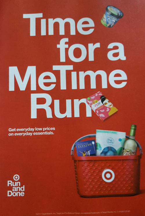 Target Ad: Time for a Me Time Run