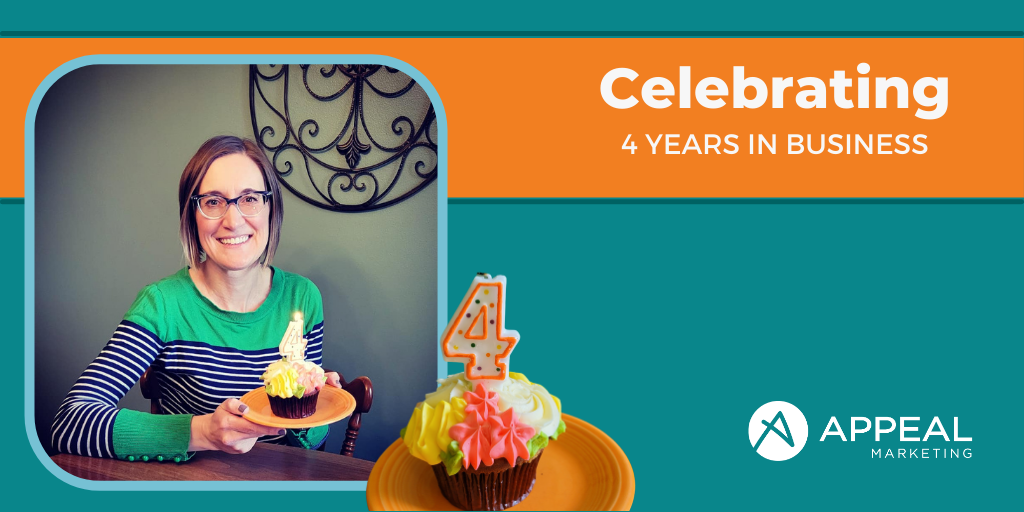 Cathy Olig celebrates 4 years of Appeal Marketing